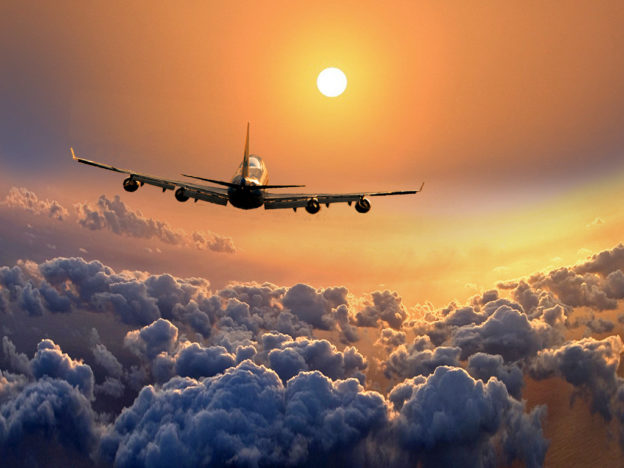 в самолёте